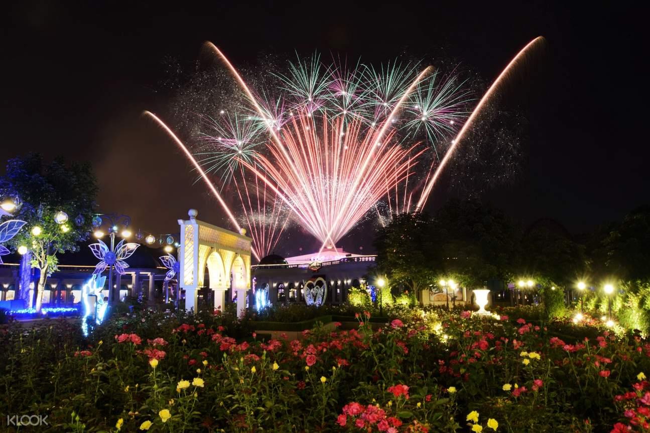 fireworks show at everland